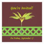 Invitaciones verdes del enrejado invitación personalizada
