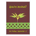 Invitaciones verdes del enrejado invitación