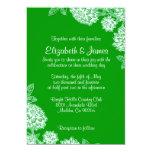 Invitaciones verdes elegantes del boda invitacion personal