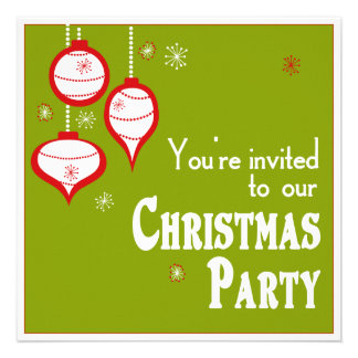Invitaciones verdes retras del navidad invitaciones personales