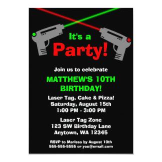 Invitaciones verdes rojas de la fiesta de invitación 12,7 x 17,8 cm
