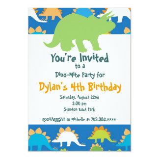 Invitaciones verdes y azules de la fiesta de invitaciones personalizada