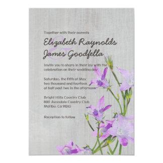 """Invitaciones violetas del boda del vintage invitación 5"""" x 7"""""""