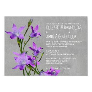 """Invitaciones violetas del boda invitación 5"""" x 7"""""""