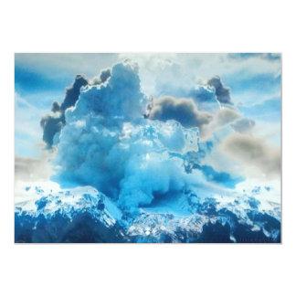 Invitaciones vivas del volcán invitación 12,7 x 17,8 cm
