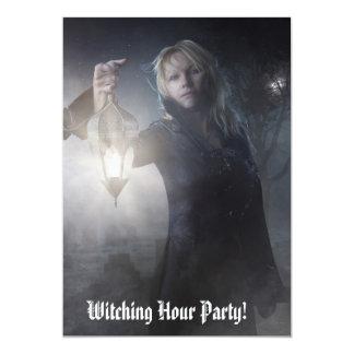 """Invitaciones Witching del fiesta de la hora Invitación 5"""" X 7"""""""