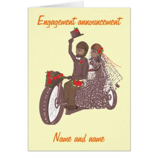 Invitaciones y productos de boda del motorista de  tarjeta