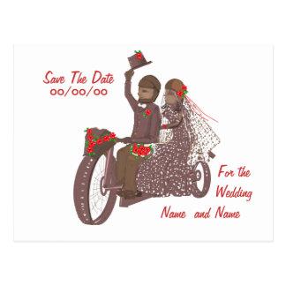 Invitaciones y productos de boda del motorista de postal
