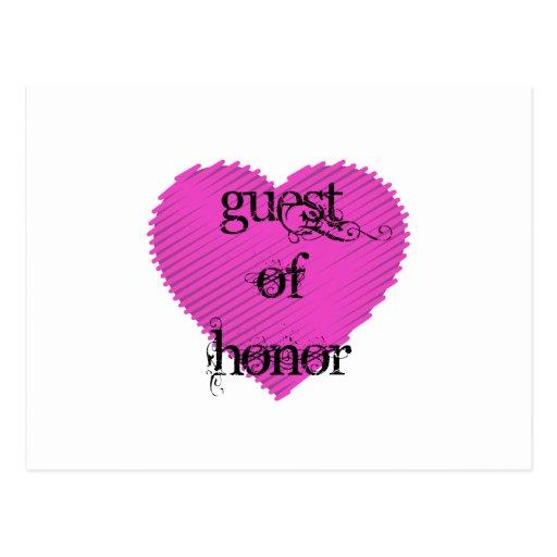 Invitado de honor tarjetas postales
