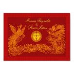 Invitati rojo del boda de RSVP de la felicidad Anuncio