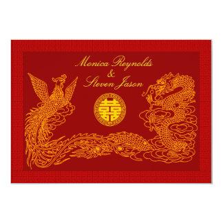 Invitati rojo del boda de RSVP de la felicidad Invitación 12,7 X 17,8 Cm