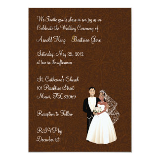 African American Wedding Invitations Announcements Zazzle