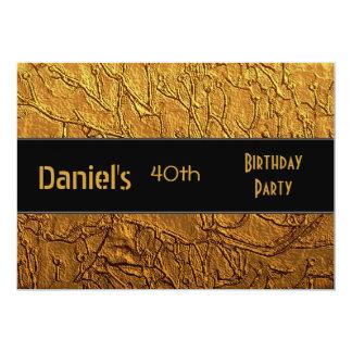 Invitation 40th Birthday Party Black Terra Gold