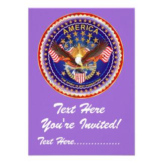 Invitation 4 5 x 6 25 America not forgotten