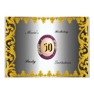 Invitation 50's Elegant women's Men's Birthday Par