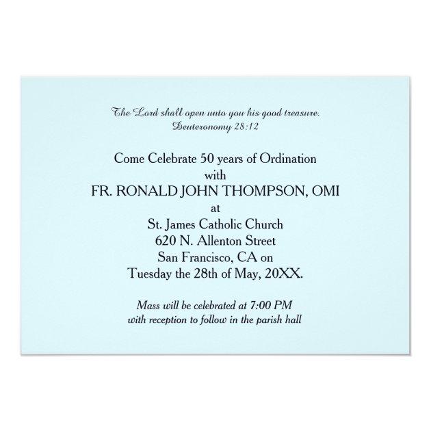 Invitation 50th Ordination Anniversary Priest, Orn ...
