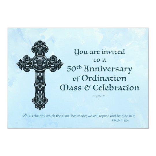 Invitation 50th ordination anniversary priest orn zazzle invitation 50th ordination anniversary priest orn stopboris Images