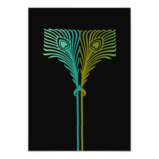 Invitation 5x7 Peacock Set 1104