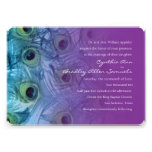 Invitation 5x7 Peacock Teal and Purple Set 1112a Personalized Announcements