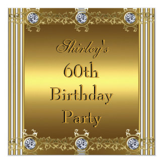 Invitation 60th Birthday Party Gold