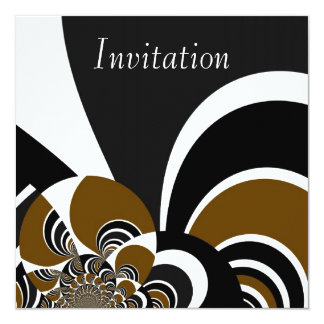 Invitation Abstract Art Cyber Brown 2
