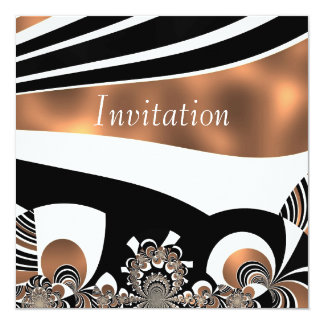 Invitation Abstract Art Cyber Gold