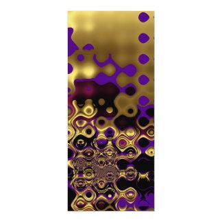 Invitation Abstract Gold Purple Black