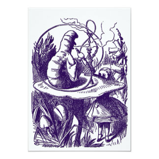 Invitation: Alice in Wonderland - Caterpillar 5x7 Paper Invitation Card
