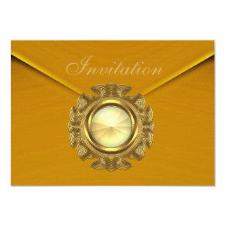 Invitation All Occasion Rich Velvet Mustard Jewel