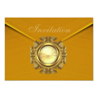 Invitation All Occasion Rich Velvet Mustard Jewel