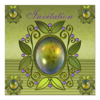 Invitation All Occasions Avocado Green Jewel