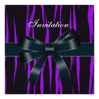 Invitation All Occasions Black Purple Bow