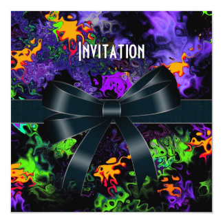 Invitation All Occasions Color Explode Black Bow