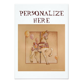 Invitation - Announcement Cards - Purple Pony Caro