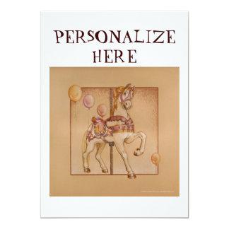 Invitation - Announcement Cards - Purple Pony Caro