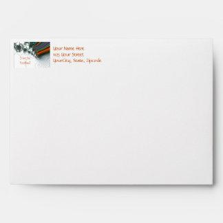 Invitation Any Occasion Lace Digital Fractal Envelopes