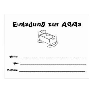 Invitation Aqiqa Postcard