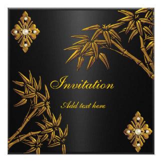 Invitation Asian Gold and Black Invite