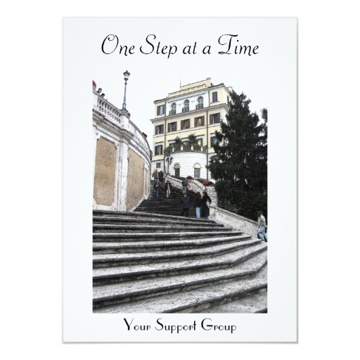 "Invitation -  At the Spanish Steps (one step) 4.5"" X 6.25"" Invitation Card"