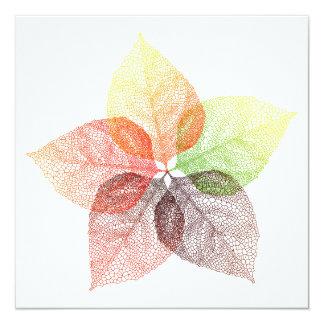 Invitation Autumn leaf flower