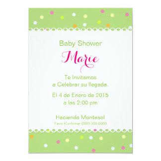 Invitation Baby Shower - Verde Bottom