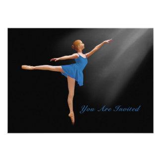 Invitation Ballerina in Arabesque Customizable