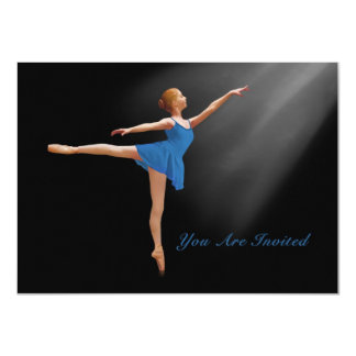 Invitation, Ballerina in Arabesque, Customizable Card