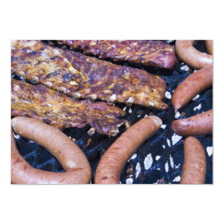 Invitation, Barbecue, links and Ribs Card