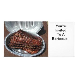 Invitation, Barbecue, ribs # 1 Card