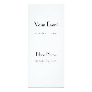 """Invitation Basic Paper/ White Color 4x9.25 4"""" X 9.25"""" Invitation Card"""