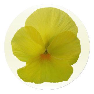 "Invitation - Bearded Lemon Pansy 5.25"" Square Invitation Card"