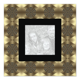 Invitation Birthday Abstract Beige Black Photo
