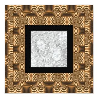 Invitation Birthday Abstract Gold Fractal Photo