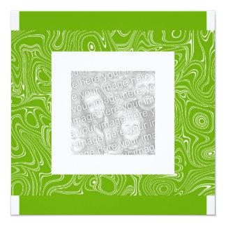 Invitation Birthday Abstract Lime Green Photo
